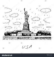 statue liberty new york usa vector stock vector 333035090