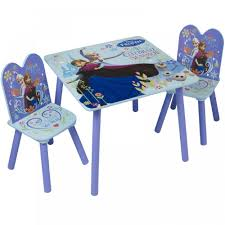 disney wooden childrens table two chairs set bedroom playroom desk