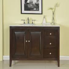 silkroad exclusive 45 single sink cabinet bathroom vanity set