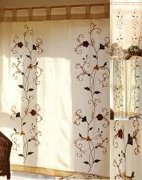 Country Porch Curtains Porch Curtains Floral Pattern Linen Cotton Blend