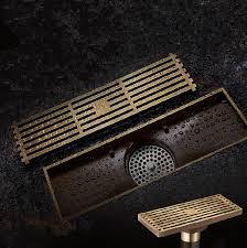 Bathroom Shower Drain Covers Aliwizard 35 Style Antique Brass Bathroom Linear Shower