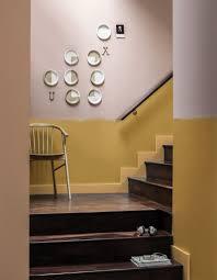 escalier peint en gris peinture murale 20 inspirations pour un intérieur trendy elle