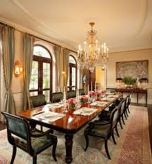 elegant dinner party dining room traditional with long table