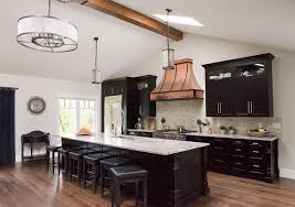 Kitchen Island With Granite Countertop Black Kitchen Island With White And Gray Granite Countertops