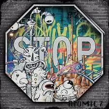 20x20 chicken head graffiti street tattoo wall art stop road