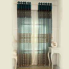 Blue Silk Curtains Great Peacock Blue Curtains And Teal Velvet Pin Stripes And