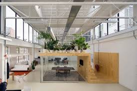 unique office design in rotterdam with a hanging garden