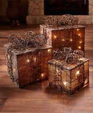 lighted gift boxes christmas decorations lighted gift boxes ebay