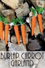 carrot craft burlap carrot garland decoration