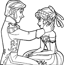 frozen hans anna coloring wecoloringpage