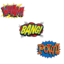 Marilyn Monroe Wall Sticker Wham Bang Pow Comic Sound Cutout Wall Decals Set Superhero Decor