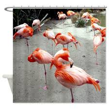 Flamingo Shower Curtains Fabric Shower Curtain Flamingo Shower Bird Bathroom Curtain
