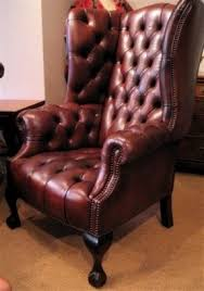 Vintage Brown Leather Armchair Antique Leather Chairs Foter