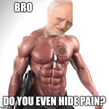 Muscle Man Meme - maybe harold can lift the pain imgflip