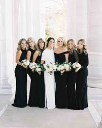 black bridesmaid dresses chic black bridesmaid dresses martha stewart weddings
