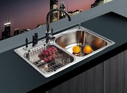 Inspiration  Double Kitchen Sink Clogged Decorating Design Of - Double kitchen sink
