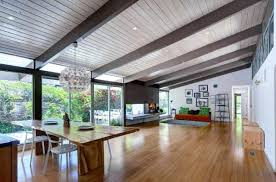 mid century modern vaulted beamed ceilings search house