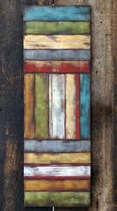 rustic modern painted wood slice sculpture wall by modernrusticart