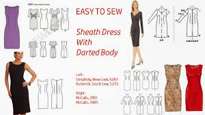 pattern a line shift dress pintucks 7 best sheath dress patterns with vintage style easy to sew