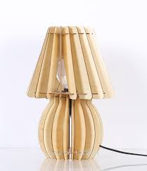 simple modern fashion original solid wood creative bedside lamp