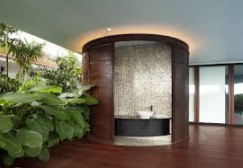 round open shower room design in ninety7 siglap house with