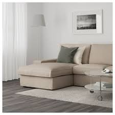 Two Arm Chaise Lounge Kivik Two Seat Sofa And Chaise Longue Hillared Beige Ikea