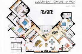 seinfeld apartment floor plan meticulous blueprints of seinfeld s apartment and other famous on