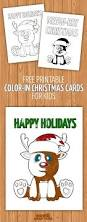 cute and punny holiday cards for kids to color in christmas