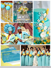 colour themes for nigerian wedding wedding color schemes nigerian wedding mint blue and yellow