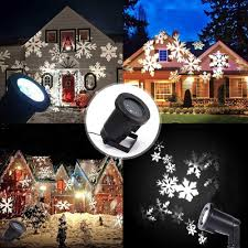 Outdoor Moving Lights by Podofo Waterproof Snowflakes Lamp Light Sparkling Landscape Led