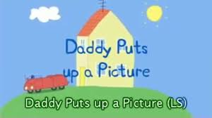 Peppa Pig Cuckoo Clock Peppa Pig Daddy Puts Up A Picture With Subtitles Video Dailymotion