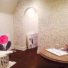 petal pushers wallpapers petal pusher gold craft room accent wall wallpaper