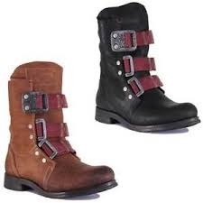 womens leather biker boots sale fly stif istanbul leather brown biker boots ebay