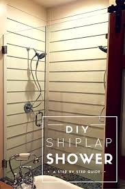shiplap shower reveal bath steam showers bathroom and master