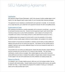 sample seo contract 9 documents in pdf