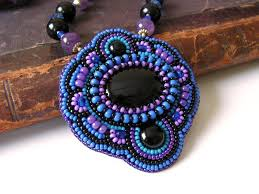 black beaded pendant necklace images 148 best pendants bead embroidery images beaded jpg