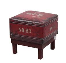 Unusual Ottomans by Amazon Com Nach Fj 14 1040 Square Faux Leather Stool Ottoman Red