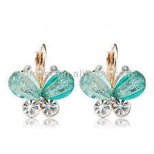 fashion clip on earrings design butterfly earrings view