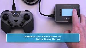 vex robotics led lights vex iq pairing the controller robot brain youtube