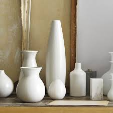 Vase Sets Pure White Ceramic Vases West Elm