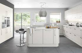 what colour goes with grey kitchen units cork tile floor gray red
