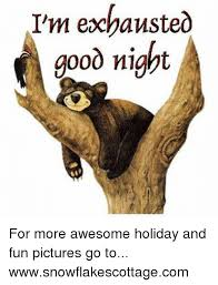Exhausted Meme - i m exhausted good night for more awesome holiday and fun pictures