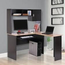 bureau informatique avec rangement bureau informatique bureau d angle multi rangements avec étagère