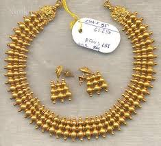 gold solid necklace images Best vintage solid 22 gold necklace amp earring pair set south jpg