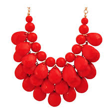 red collar necklace images Red bib necklace jpg