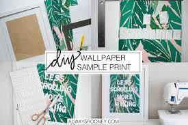 always rooney wallpaper sample print