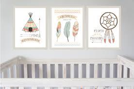 Personalised Baby Nursery Decor Tribal Indian Nursery Prints Set Of 3 Indian Boys