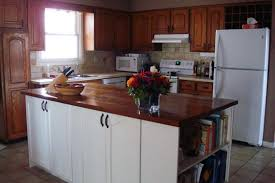 kitchen island wood countertop how to stain and waterproof a wood countertop home on 129 acres