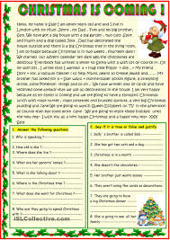 christmas is coming basic reading with a poem on the 2nd page
