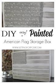 American Flag Home Decor American Flag Painted Tea Tin Patriotic Home Decor Setting For